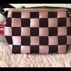 Harvey's Seatbelt Messenger Bag: Pink and Brown